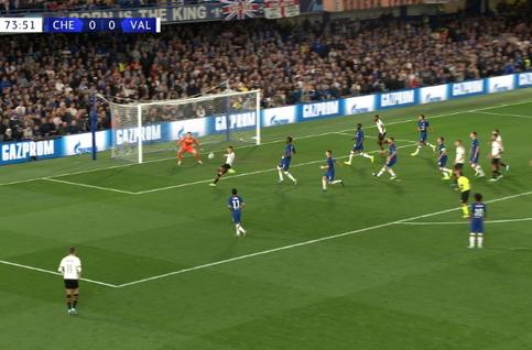Goal: Chelsea 0 - 1 Valence CF 74', Rodrigo