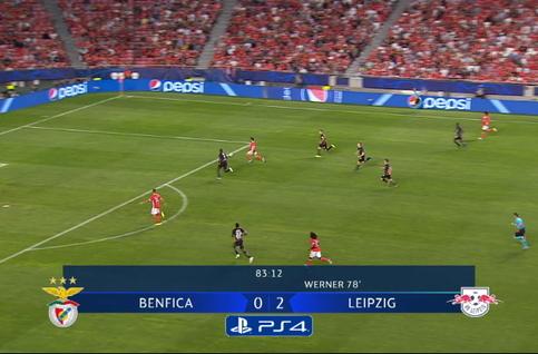 Goal: Benfica 1 - 2 RB Leipzig 84', Seferovic