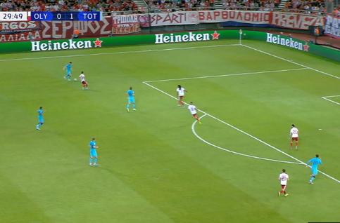 Goal: Olympiakos Piraeus 0 - 2 Tottenham Hotspur 30', Lucas Moura