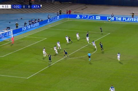 Goal: Dinamo Zagreb 1 - 0 Atalanta Bergame 10', Leovac