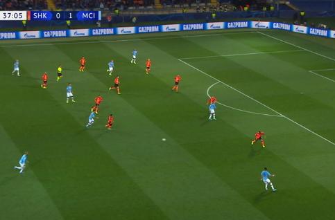 Goal: Sh Donetsk 0 - 2 Manchester City 38', Gundogan