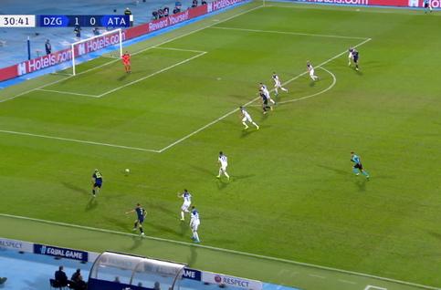 Goal: Dinamo Zagreb 2 - 0 Atalanta Bergame 31', Orsic