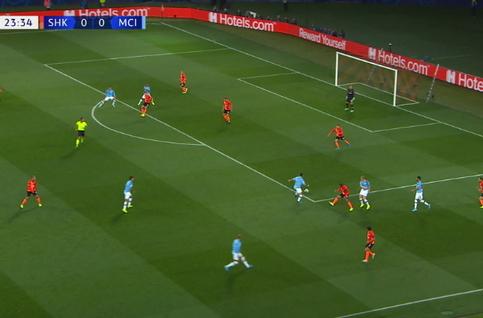 Goal: Sh Donetsk 0 - 1 Manchester City 24', Mahrez