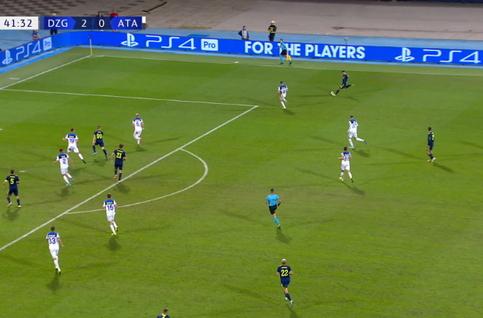 Goal: Dinamo Zagreb 3 - 0 Atalanta Bergamo 42', Orsic