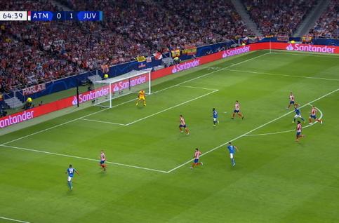 Goal: Atlético Madrid 0 - 2 Juventus Turin 65', Matuidi