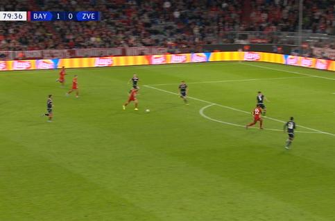 Goal: Bayern Munich 2 - 0 Crvena Zvezda 80', Lewandowski