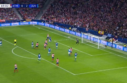 Goal: Atlético Madrid 1 - 2 Juventus Turin 70', Savic