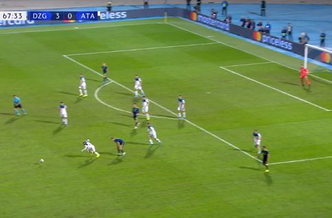 Goal: Dinamo Zagreb 4 - 0 Atalanta Bergame 68', Orsic