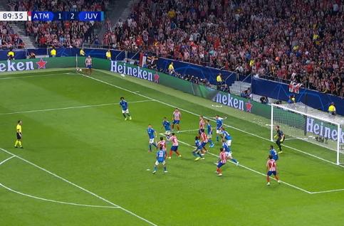 Goal: Atlético Madrid 2 - 2 Juventus 90', Herrera