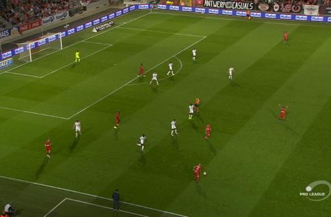 Goal: Royal Antwerp 1 - 0 Cercle Brugge 20', Lamkel Zé