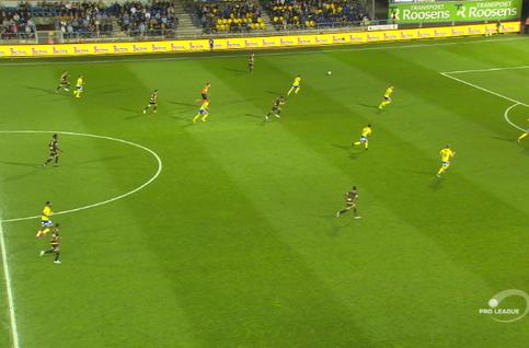 Goal: Waasland-Beveren 0 - 1 Moeskroen 33', Garcia