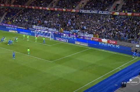 Own goal: Genk 1 - 0 Ostende 17', Vargas
