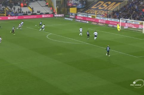 Own goal: FC Bruges 1 - 1 Anderlecht 6', van Crombrugge
