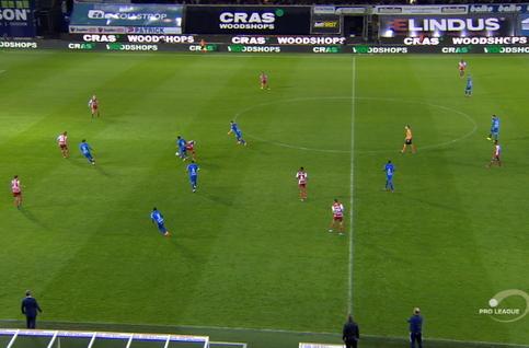 Goal: SV Zulte Waregem 2 - 2 La Gantoise 76', Yaremchuk