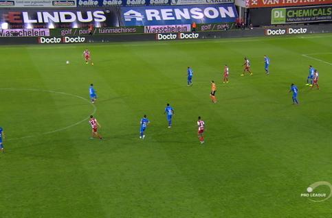 Goal: SV Zulte Waregem 2 - 1 KAA Gent 69', Larin