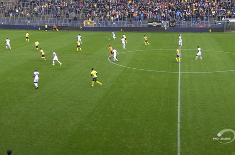 Goal: Union Saint Gilloise 0 - 1 RE Virton 4', Turpel