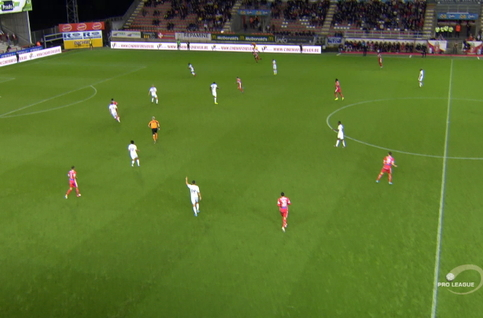 Goal: Moeskroen 1 - 0 SV Zulte Waregem 3', Garcia