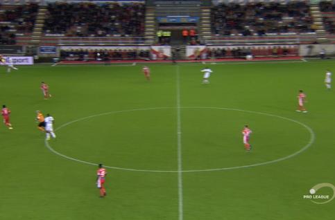 Goal: Moeskroen 2 - 1 SV Zulte Waregem 66', Bruno