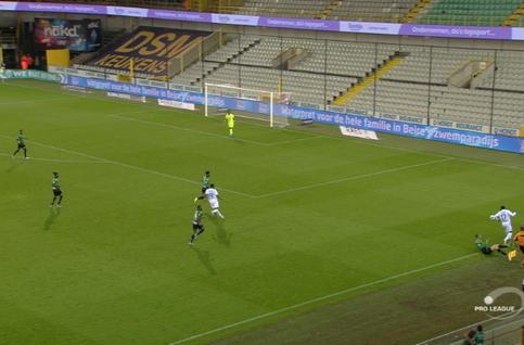 Goal: Cercle Bruges 1 - 2 Eupen 88', Milicevic