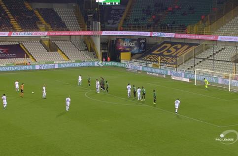 Goal: Cercle Bruges 1 - 1 Eupen 76', Milicevic